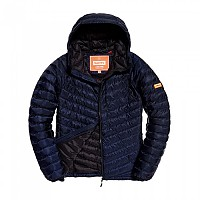 [해외]슈퍼드라이 Micro Quilt Down Hooded Dark Navy