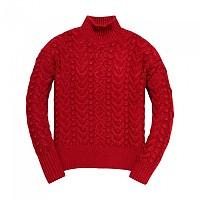 [해외]슈퍼드라이 Kiki Cable Sweater Savannah Rust