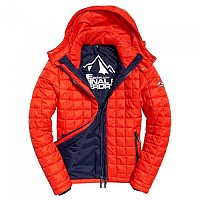 [해외]슈퍼드라이 Box Quilt Fuji Hooded Sport Code Red