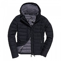 [해외]슈퍼드라이 Fuji Hooded Double Zip Tweed Charcoal