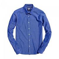 [해외]슈퍼드라이 Modern Classic L/S Shirt Birdseye Blue