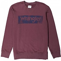 [해외]WRANGLER Logo Crew Burgundy / Red