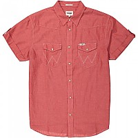 [해외]WRANGLER Roll Western S/S Pompeian Red