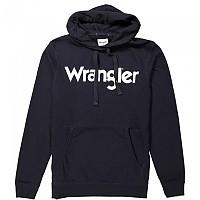 [해외]WRANGLER Logo Popover Hoodie Black