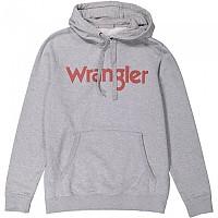 [해외]WRANGLER Logo Popover Hoodie Mid Grey Mel