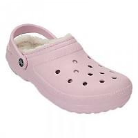 [해외]크록스 Classic Lined Clog Ballerina Pink / Oatmeal