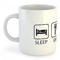 [해외]KRUSKIS Mug Sleep Eat and Ski 325ml White