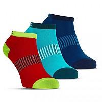 [해외]살밍 Performance Ankle 3 Pair Blue / Red / Lapis