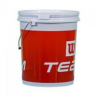[해외]윌슨 Ball Bucket With Handle Red / White