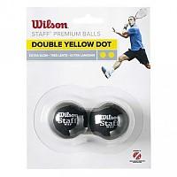 [해외]윌슨 Staff Extra Slow Double Yellow Dot Black