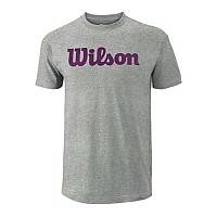 [해외]윌슨 Script Cotton Heather Grey / Purple Potion