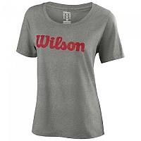 [해외]윌슨 Script Cotton S/S Heather Grey / Wilson Red