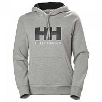 [해외]헬리 한센 Logo Hooded Grey Melange
