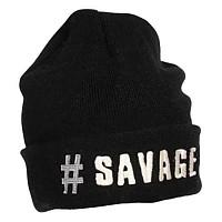[해외]SAVAGE GEAR Savage Beanie Black