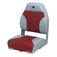 [해외]WISE SEATING High Back Boat Seat Grey / Red