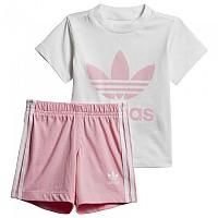 [해외]아디다스 ORIGINALS Shorts Tee Set Infant White / Light Pink