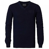 [해외]PETROL INDUSTRIES Knitwear V-Neck Dark Indigo