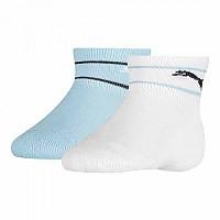 [해외]푸마 언더웨어 Baby Mini Cats Lifestyle Terry 2 Pack White / Blue