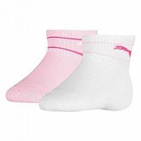 [해외]푸마 언더웨어 Baby Mini Cats Lifestyle Terry 2 Pack Pink / White