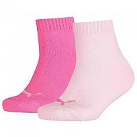 [해외]푸마 UNDERWEAR Quarter 2 Pack Pink Lady / Carmine Rose