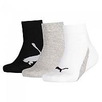 [해외]푸마 언더웨어 Lifestyle Quarters 3 Pack White / Grey / Black