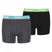 [해외]푸마 UNDERWEAR Basic Boxer 2 Pack India Ink / Turquoise