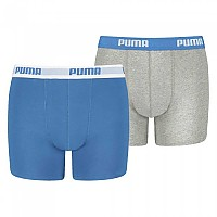 [해외]푸마 UNDERWEAR Basic Boxer 2 Pack Blue / Grey