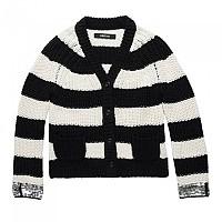 [해외]리플레이 Cotton Paillettes 5 Gg Girl White / Black Stripes