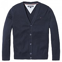 [해외]타미힐피거 KIDS Basic V Neck Cardigan Sky Captain
