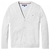 [해외]타미힐피거 KIDS V Neck Cardigan Grey Heather