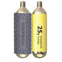 [해외]TOPEAK Co2 Cartridge 25gr 2 Units+Sleeve Gray
