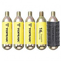 [해외]TOPEAK Co2 Cartridge 16gr 5 Units +Sleeve Gray