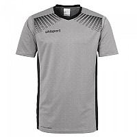 [해외]UHLSPORT Goal Shirt Ss Dark Grey M?lange / Black