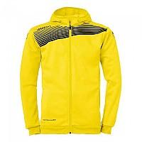 [해외]UHLSPORT Liga 2.0 Hooded Jacket Lime Yellow / Black