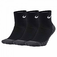 [해외]나이키 Everyday Ankle Max Cushion 3 Pair Black / Anthracite / White
