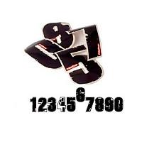 [해외]Hebo Race Numbers 6 Set 10u Black