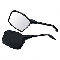 [해외]POLO Handlebar Mounted Mirror 14 Rectangular Left Black