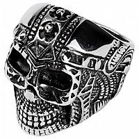 [해외]SPIRIT MOTORS Stainless Steel Ring With Skull 1.0 Silver