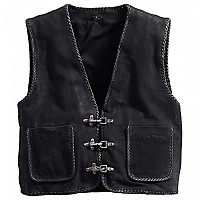 [해외]SPIRIT MOTORS Suede Vest 1 0 Black
