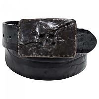 [해외]SPIRIT MOTORS Leather With Skull Buckle 1 0 Black