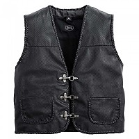 [해외]SPIRIT MOTORS Perforated Leather Vest 1 0 Black