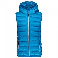 [해외]CMP Girl Vest Zip Hood Blue Jewel