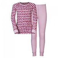 [해외]오들로 Set Warm Kids Shirt L/S Pants Long Sangria / Winterrose / Allover Print