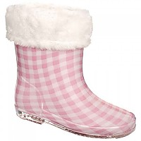[해외]TRESPASS Pitter Babies Printed Welly Boot Babies Soft Pink Check