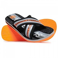 [해외]슈퍼드라이 Trophy Cross Strap Flip Flop Black/Grey/Orange