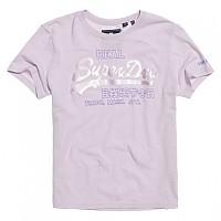 [해외]슈퍼드라이 Vintage Logo Code Bonded Satin Entry Soft Lilac