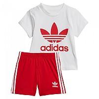 [해외]아디다스 ORIGINALS Short Tee Set Infant White / Scarlet