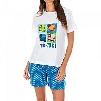 [해외]KISSES&LOVE KL45056 Pyjamas S/S White / Flower Blue