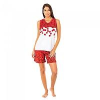 [해외]KISSES&LOVE KL45088 Pyjamas Sleeveless Red / White