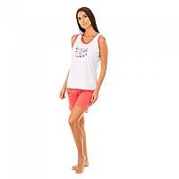 [해외]KISSES&LOVE KL45094 Pyjamas Sleeveless White / Pink